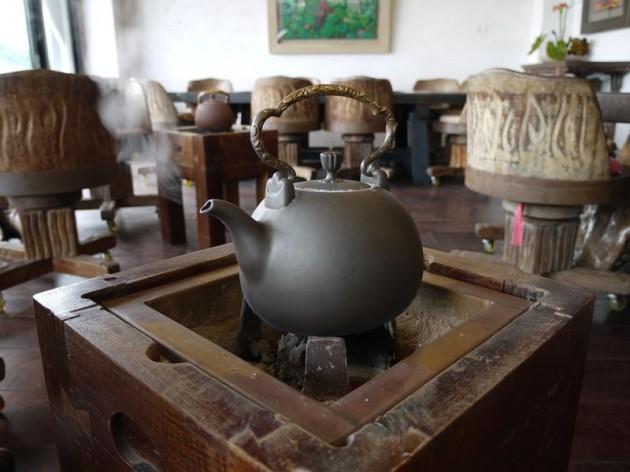 水心月茶坊の茶瓶