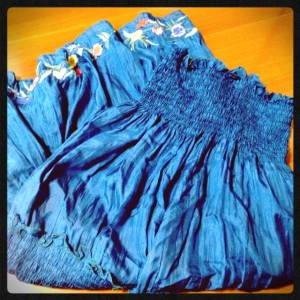チュニックにもなるスカート