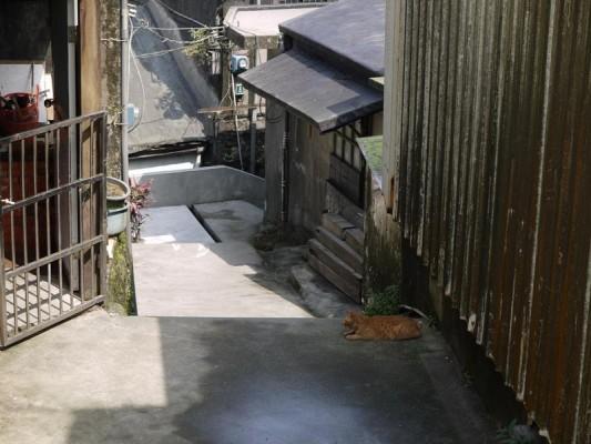 九份の住宅地の道