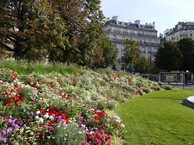 パリの花壇